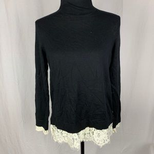 Joie black and lace sweater